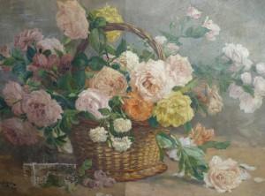 nettoyage tableau bouquet de fleurs